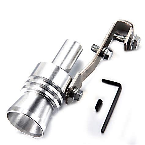 Gold Exhaust Turbo Whistler Pipe Sound Muffler Size M T3010 1 buy turbo sound whistle exhaust pipe tailpipe valve size m golden golden at gearbest