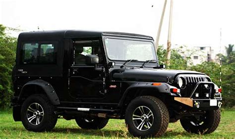 jeep modified black mahindra thar black modified pixshark com images