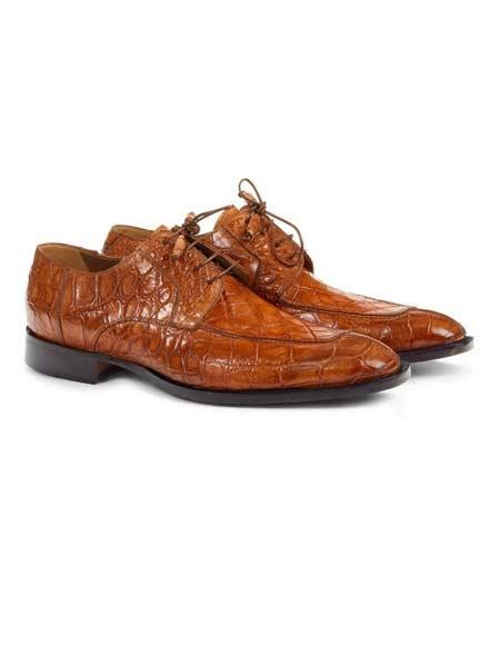 cognac color shoes mauri italy alligator skin lace up style printed cognac colo