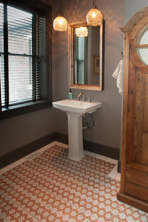 moroccan floor tiles Bathroom Transitional with annex