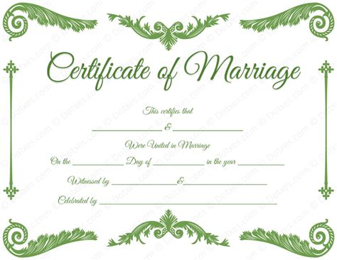 wedding certificates templates royal corner marriage certificate format for pdf