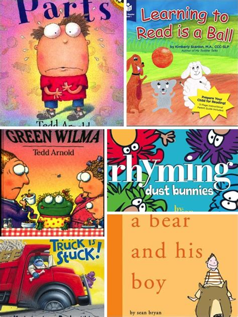 silly picture books preschool rhyming books scanlon speech therapy
