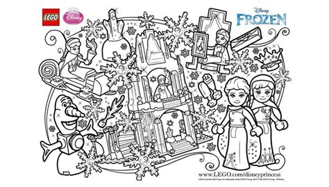 Coloring Pages Lego Frozen | lego frozen fun coloring sheet lego 174 coloring sheets