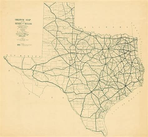 texas highway department maps texas historical highway map 1922
