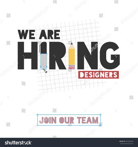 graphics design recruitment agency we hiring designers template design recruitment stock