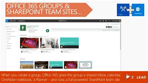 Office 365 Team Site Learn What To Use When Office 365 Groups Sharepoint Team