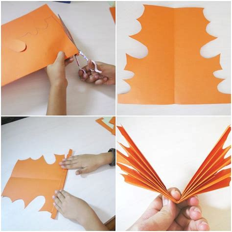 Folded Paper Garland - folded paper leaf garland make and takes