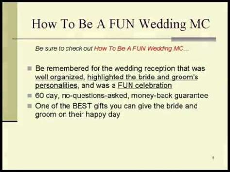 Wedding Officiant Speech by Memorable Wedding How To Be A Wedding Mc