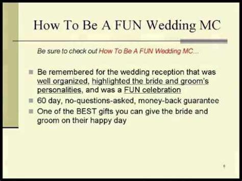 Memorable Wedding   How To Be A FUN Wedding MC   YouTube
