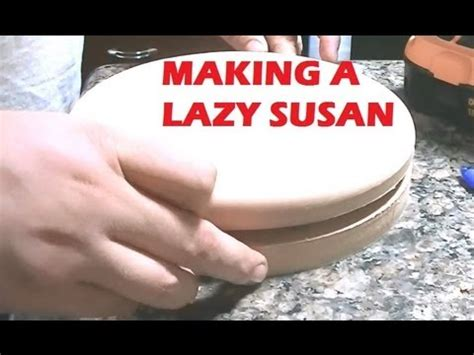 how to make a lazy susan for a kitchen cabinet making a lazy susan youtube