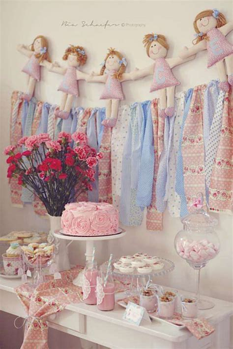 kara s party ideas shabby chic pink girl tea party baby