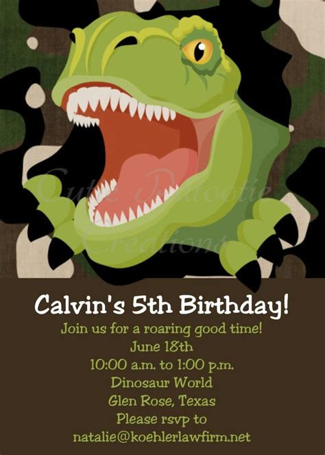 25 best ideas about dinosaur birthday invitations on
