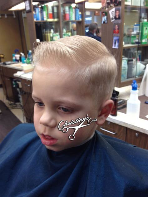 young gentlemans hairstyle mini pompadour sidepart we don t cut kids we service
