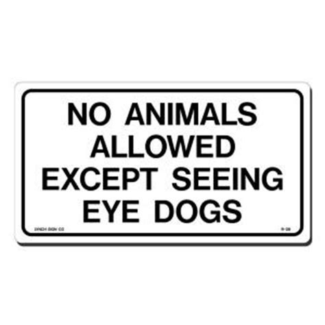lynch sign 10 in x 7 in no animals allowed sign printed