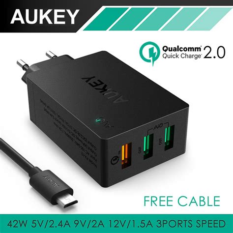 Limited Travel Cable Samsung Jadul 5v 0 7a aliexpress buy aukey 42w 3 ports portable travel usb wall charger 2 port 5v 4 8a 1 port