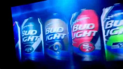 bud light superbowl cans nfl bud light cans commercial notice anything