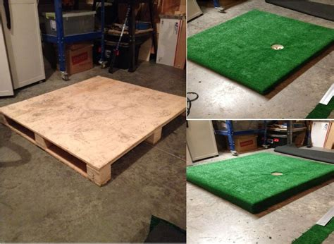 how to build a putting green in my backyard use a pallet to create an indoor green to practice your
