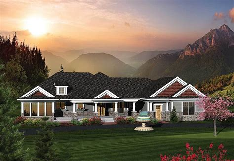 Rambling Ranch House Plans by 2 Bedroom Rambling Ranch Home Plan 89822ah