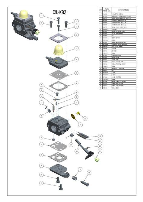 zama c1q carb diagram diagram zama carburetor choice image how to guide and