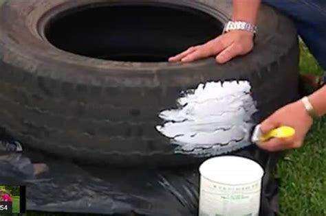 follow  easy steps    diy tire planter diy