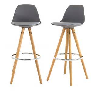 chaises de bar circus grises absolument design