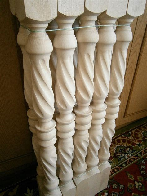 banister spindles stair balusters spiral twist carved wood spindles banisters staircase railing ebay