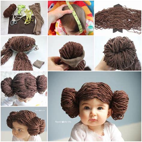 Diy Home Improvement Hacks Diy Adorable Princess Leia Yarn Wig