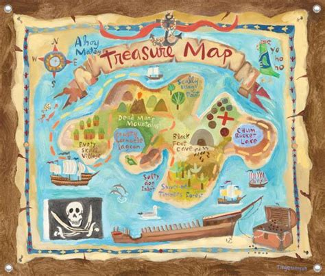free pirate treasure maps for a pirate birthday party treasure map wall mural kids decorating ideas