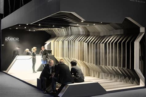 booth design architecture aeccafe 2tec2 booth in paris france by labscape architecture
