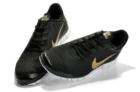 black and gold running shoes nike free 3 0 running shoes black white gold nike