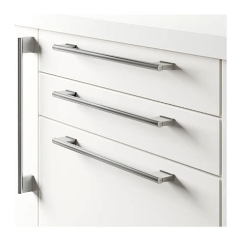 Ikea Cabinet Door Handles Ikea Vinna Handle Stainless Steel Knob Wardrobe Door Cabinet Drawer 153 Or357cm Ebay