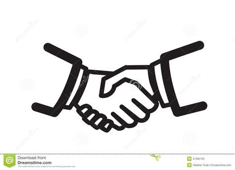 Business Cooperation Agreement Template handshake icon stock vector image 47285750