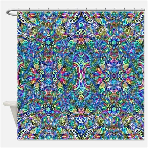Psychedelic Shower Curtains Psychedelic Fabric Shower