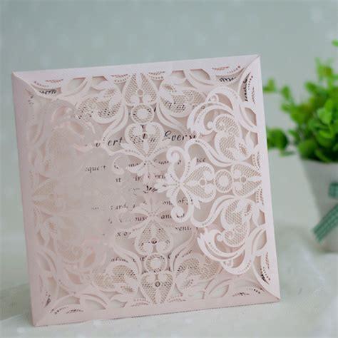 blush pink wedding invitations affordable blush pink floral laser cut wedding invitation