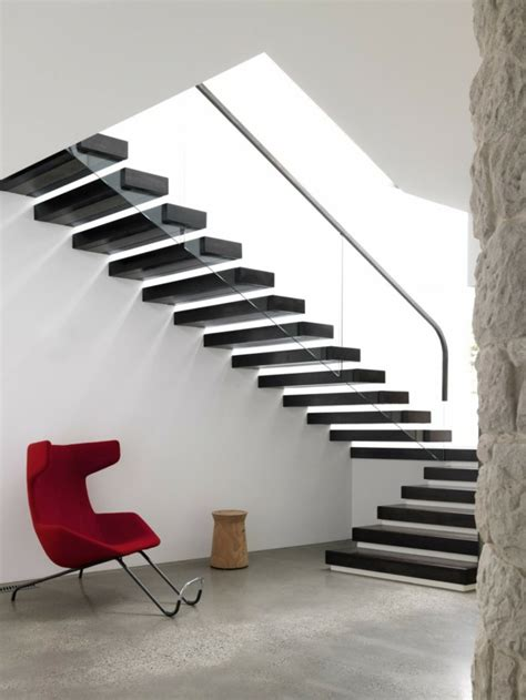 Free Standing Stairs Design 40 Stair Railings Of Glass Airy Feel In The Interior Design Of Fresh Design Pedia