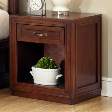 shop home styles duet rustic cherry mahogany nightstand at