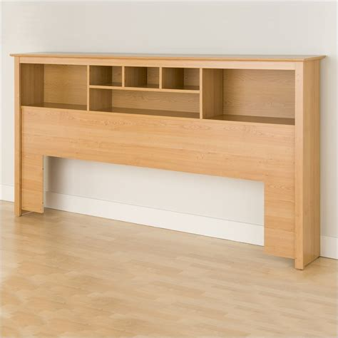 prepac sonoma maple king bookcase headboard ebay