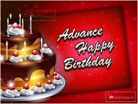 Advance Birthday Cards Advance Birthday Wishes Images Id 2266 Applegreetings Com