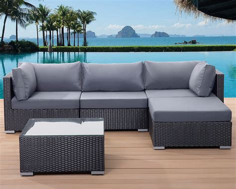 rattan settee patio settee garden poly rattan lounge sofa set