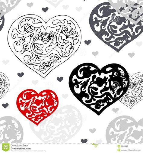 imagenes en blanco de corazones modelo ornamental blanco y negro de los corazones