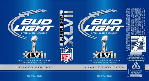 bud light superbowl cans more bud light nfl labels approved beerpulse
