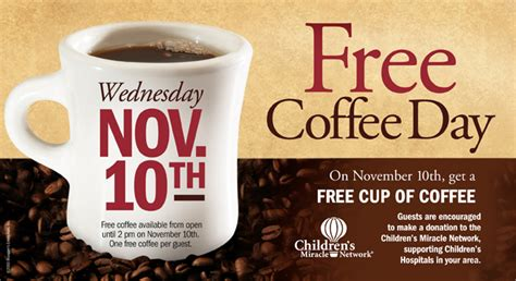 free cup of coffee at brueggers