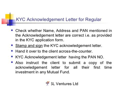 Kyc Acknowledgement Letter Lost Kyc Presentation