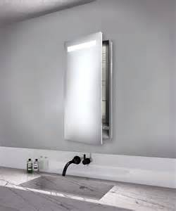 luminous left recessed medicine cabinet by electric mirror