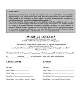 22 wedding contract templates free sle exle
