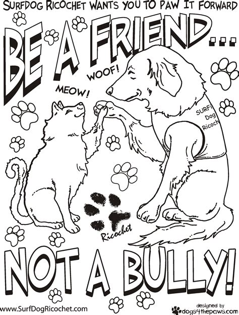 no bullying coloring pages printable