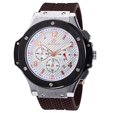 Megir Jam Tangan Analog Ml2015gbn Brown White megir jam tangan analog mn3002gbk brown silver