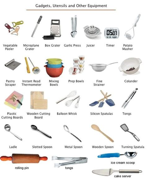 best cooking tools and gadgets kitchen gadgets and utensils english lesson learning