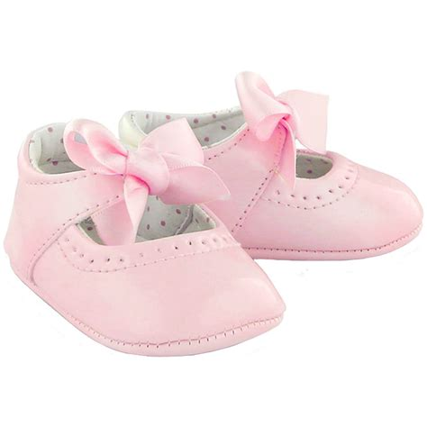 baby pink patent leather shoes with ribbons cachet