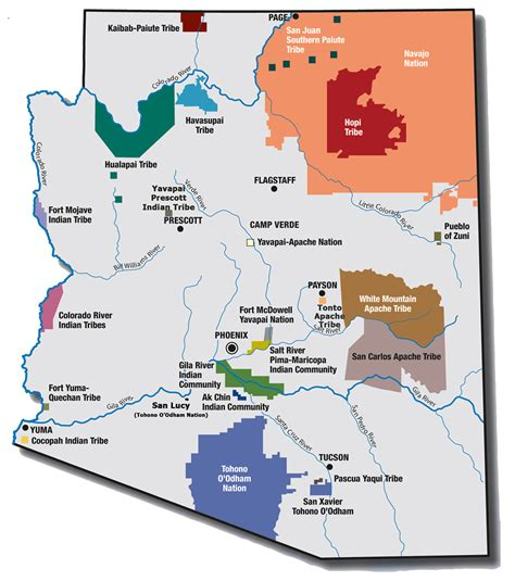 indian reservations in arizona map maps itca